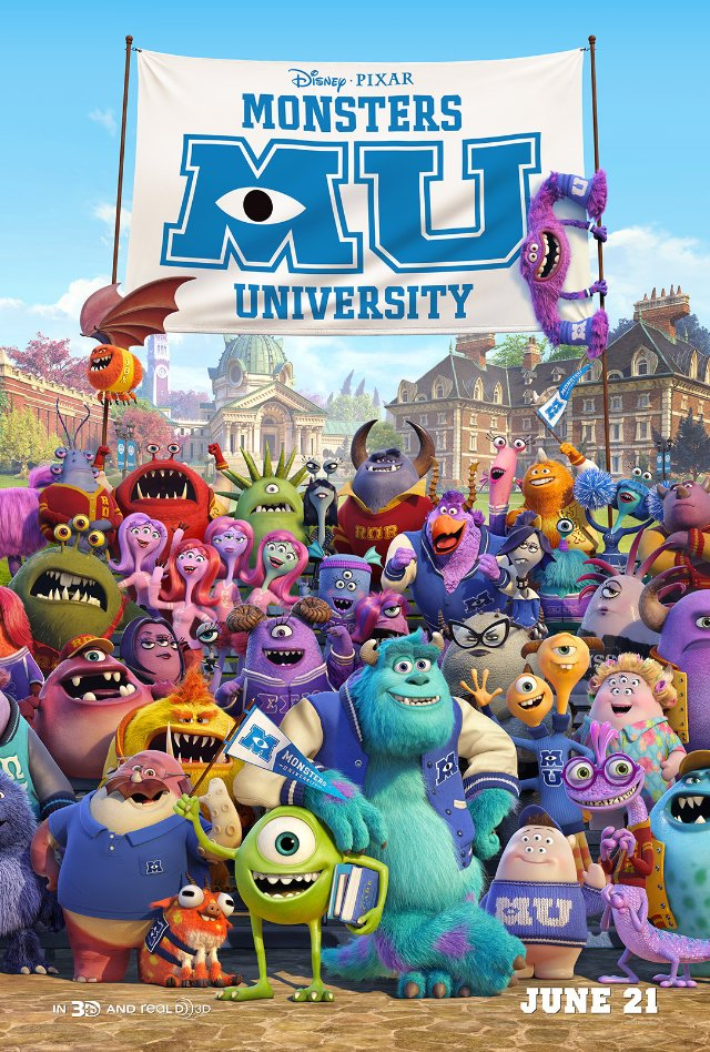 Monsters University Movie Posters