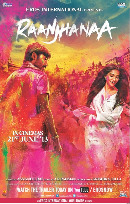 RAANJHANAA Releasing on 21st June