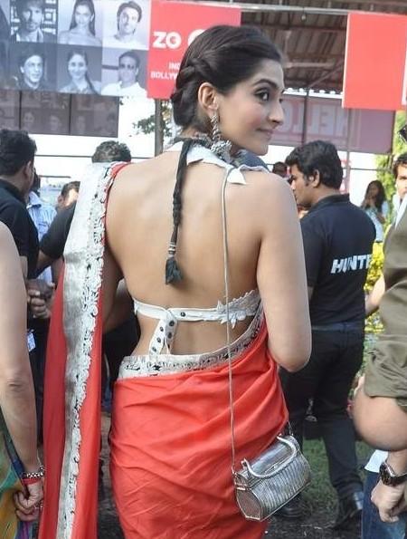 Sonam Kapoor Backless Photo