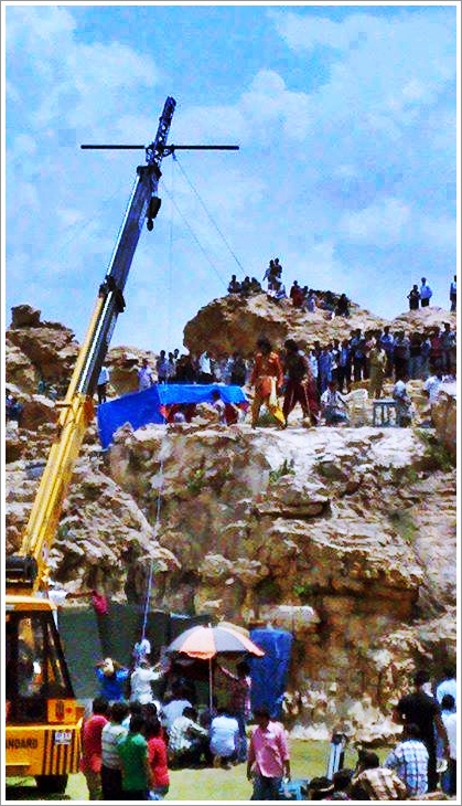 Prabhas's Baahubali Movie First Day Working Stills