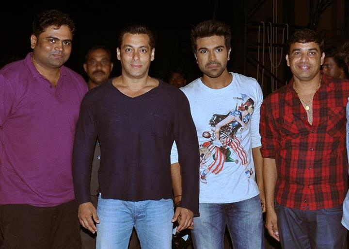 Yevadu Team with Salman Khan