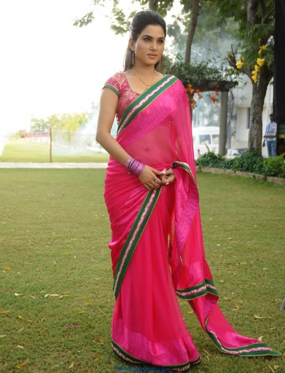 Kavya Singh Latest Photos in Rose Saree.