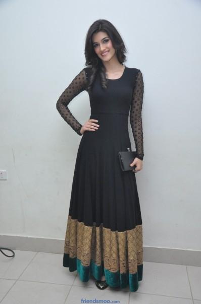 Kriti Sanon Latest Photos in Black Dress at Nenokkadine Audio Launch