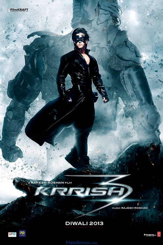 Hrithik Roshan's Krrish3 First Look Poster - Bollywood - Friendsmoo