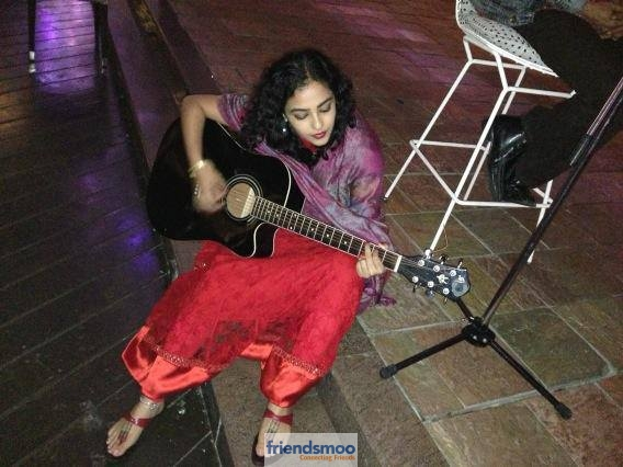 Unseen Pic of Nithya Menen with Guitar