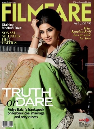 Vidya Balan on Filmfare Cover Page