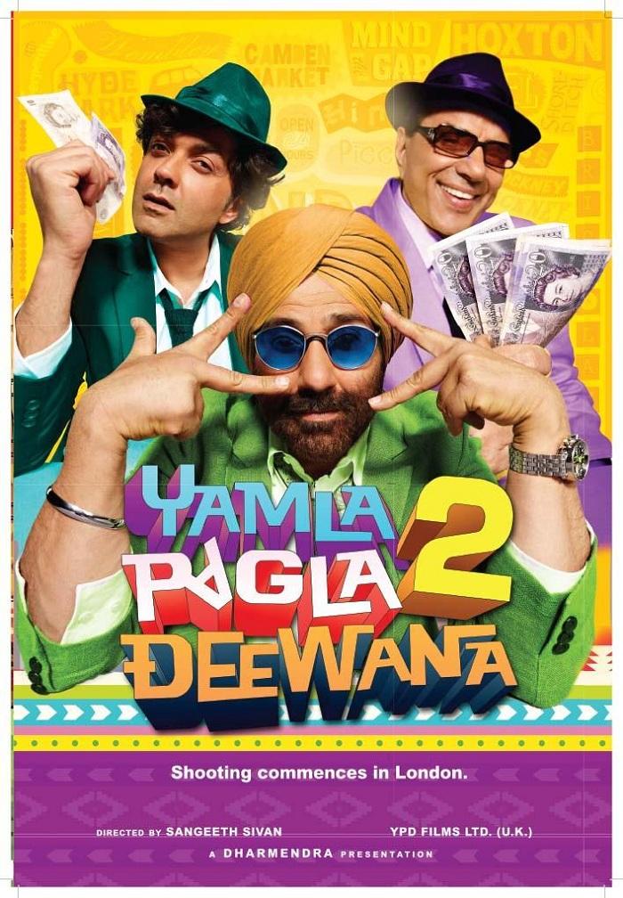 Yamla Pagla Deewana 2 earns Rs.16.6 cr in 2 days