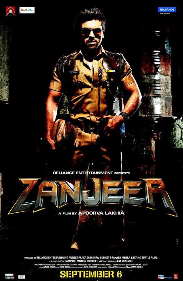 Ram Charan's Zanjeer Releasing Date Poster