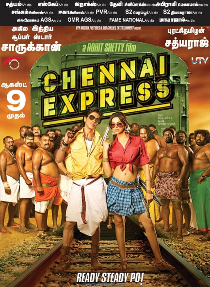 Chennai Express Movie Releasing On August 9 Poster