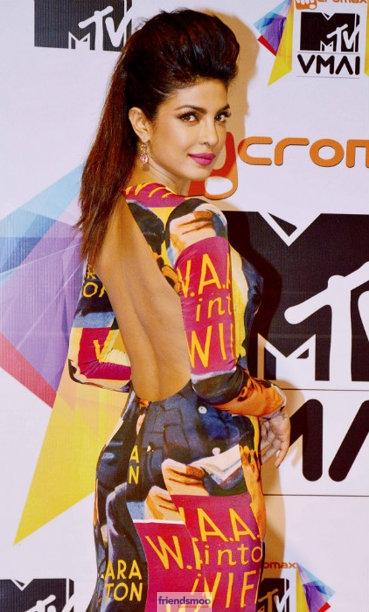 Priyanka Chopra Backless Image at Mtv Event