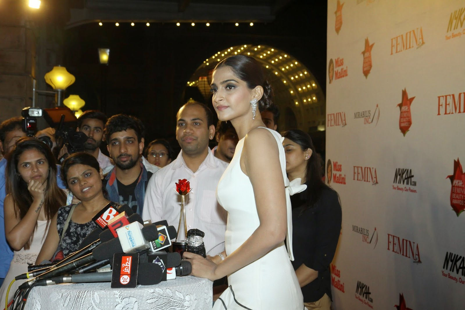Sonam Kapoor In White Designer Dress